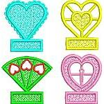 Heart Shape Pencil Toppers