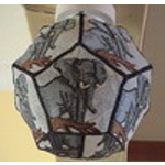 African Elephant Lampshade