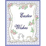 Trapunto Easter Greeting Cards