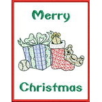 Appliqué Christmas Greeting Cards 01
