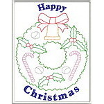 Trapunto Christmas Greeting Cards 02