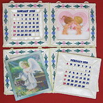 Interchangeable Applique Desktop Calendar