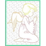 Trapunto Angel Greeting Cards