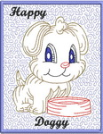 Trapunto Doggy Greeting Cards