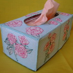 Rose Blossom Tissue Box Covers
