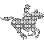 Basic Blackwork Western 07