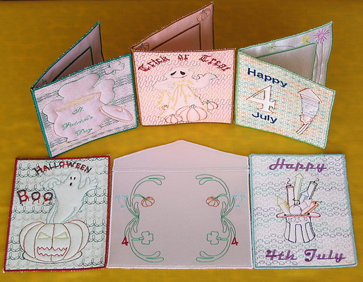 Trapunto Mixed Greeting Cards