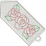 Colorful Roses Bookmark