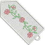 Colorful Flower Bookmark 05