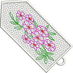 Colorful Flower Bookmark 07