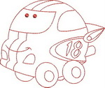Chubby Cars Redwork Outlines