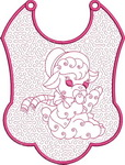 Its a Girl Trapunto Baby Bibs