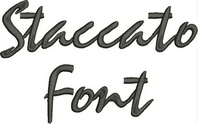 Staccato Font